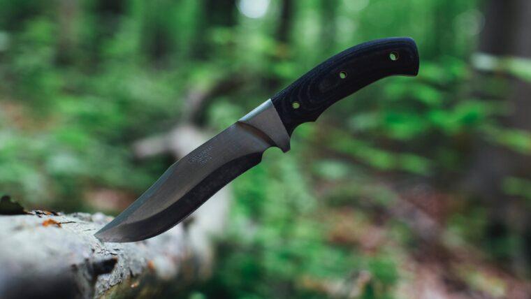 ナイフが刺さっている